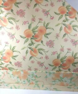 Vintage New Scented Drawer Liner Paper Peach Blossom Design Boxed