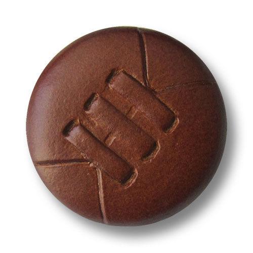 5844 MO 5 panne Moyen Marron œillets en cuir boutons avec trois DÉCORATION-COUPE