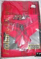 Tobin Tartan Plaid 70 Round Tablecloth Red Green Gold Christmas Table Cloth