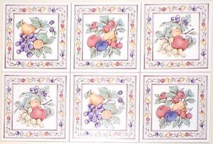 Fruit Ceramic Tile Accents To Mural 6 X