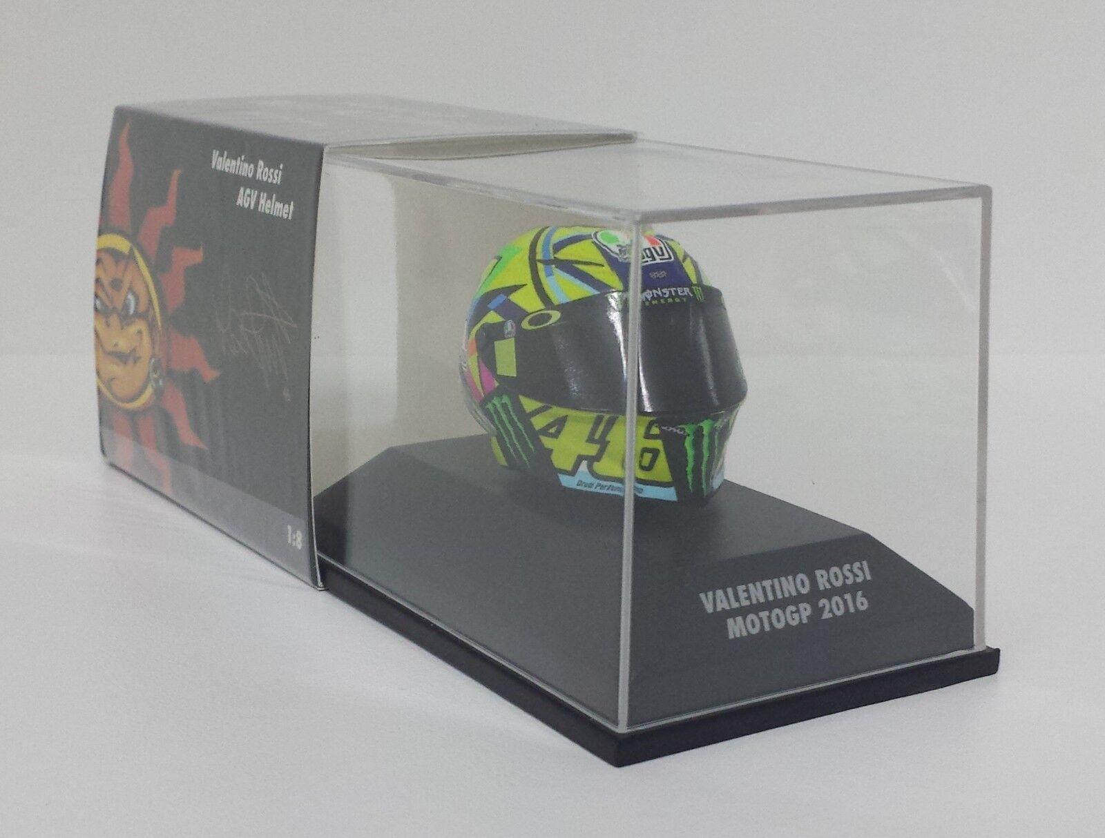 MINICHAMPS VALENTINO ROSSI MODEL AGV HELMET HELMET 1 8 YAMAHA MOTOGP 2016 NEW