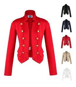 AO Blazer Uniform Stil S M L Knöpfe Military Damenblazer Business Jacke