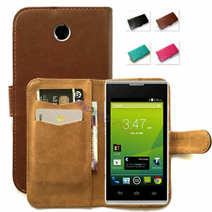 reputable site 08234 0be37 Details about Fitted Stand Design PU Wallet Case Cover for Telstra Tempo /  ZTE T815