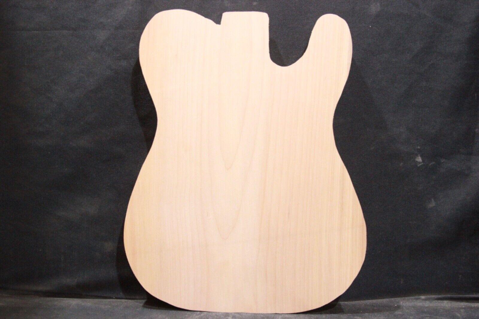 Alder  1-piece guitar body blank   Cut to  tele  shape    2386