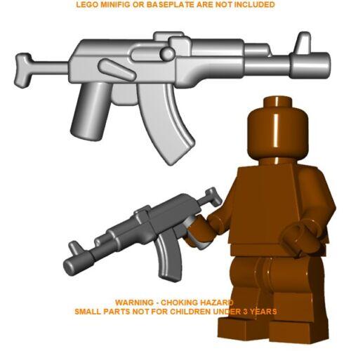 1x Custom Lego Grey Russian AR rifle Minifig gun Accessory Brick Warriors AK