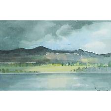 Tim Jones The Rhone Lyon Modern Framed French Landscape Watercolour Painting