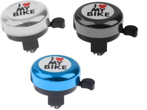 """Fahrradklingel Handklingel bike Laut /""""I LOVE MY BIKE/"""" 3 Farben"""