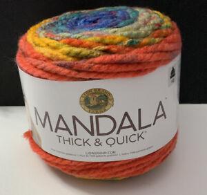 Lion-Brand-Yarn-Mandala-Thick-amp-Quick-Whirl-528-205-Super-Bulky-87-Yards