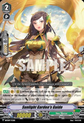 Vanguard Sunlight Garden/'s Guide BSF2019-VGS//01 PR Near Mint Fast Shi Cardfight