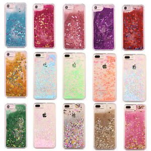 Glitter-Bling-Hearts-Liquid-Novelty-Colourful-Phone-Case-For-iPhone-7-6-6S-Plus