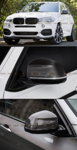 Pair Of Carbon Fiber Mirror Covers For 2015-2018 BMW E83 X3 F26 X4 F15 X5 X6