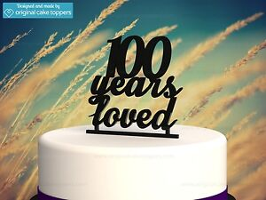 Image Is Loading 034 100 Years Loved Black 100th Birthday