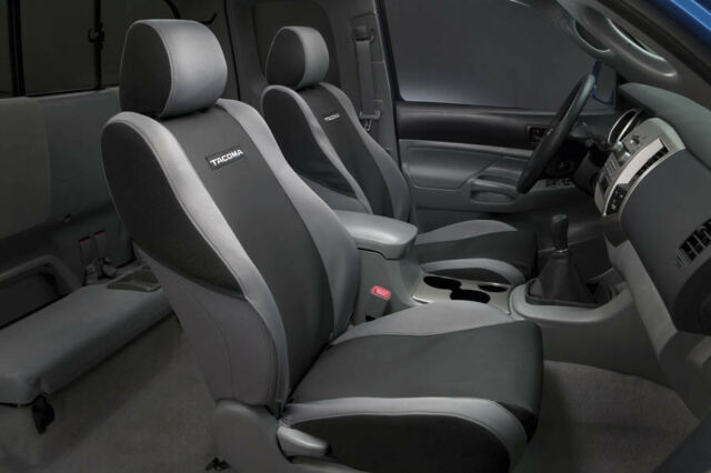 2005 2008 toyota tacoma black 2 bucket seat covers genuine oem ebay toyota tacoma 2005 2008 graphite seat covers oem new publicscrutiny Images