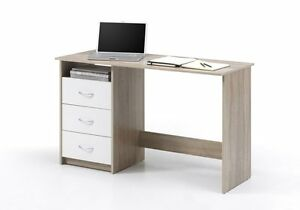 Schreibtisch Computertisch Pc Tisch Home Office Büro Eiche Sonoma WEISS Neu