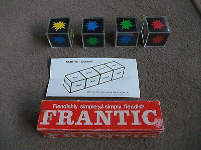 Espressive 1982 In Scatola Vintage Frenetico Cubo Puzzle Con Soluzione Foglio Per Stivali Di Gomma Lincs-mostra Il Titolo Originale