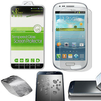 REAL TEMPERED GLASS FILM LCD SCREEN PROTECTOR FOR SAMSUNG GALAXY S3 MINI