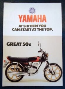 YAMAHA-50s-MOTORCYCLES-Sales-Brochure-c1977-78-RD50M-DT50M-TY50M-FS1DX