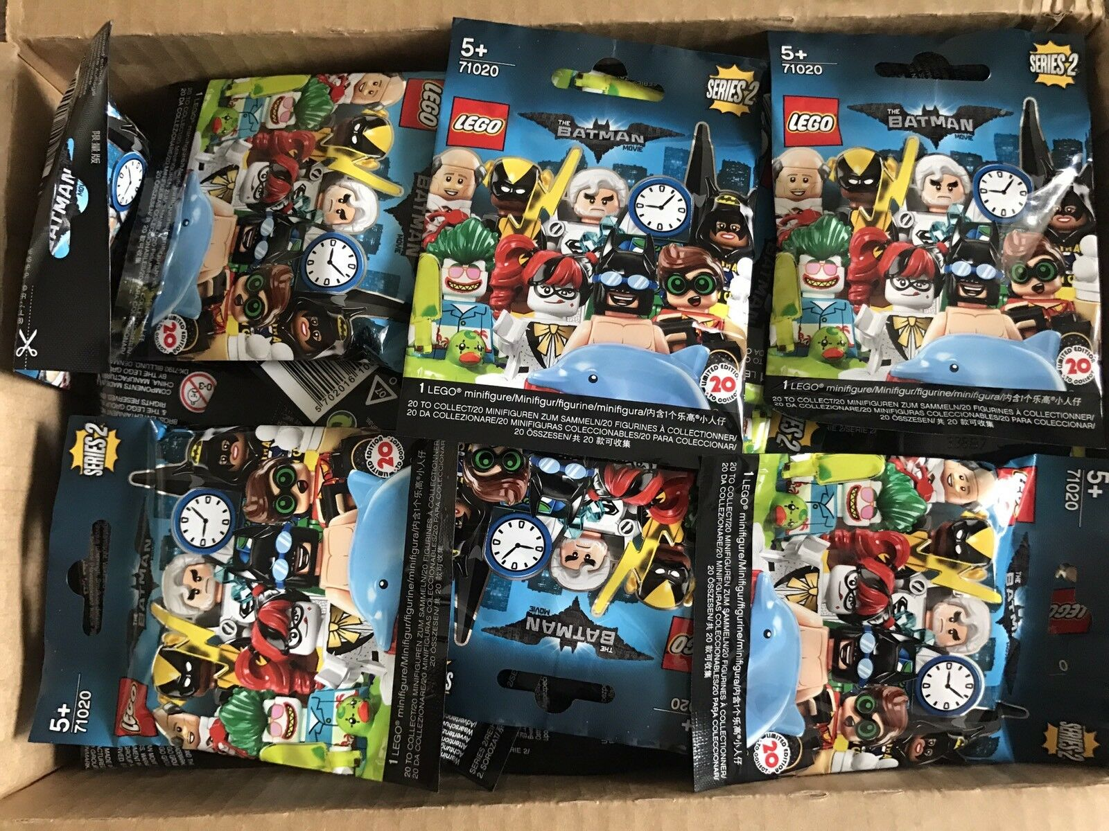 Lego Batman The Movie Minifigure Series 2   10X Blind Bags Sealed