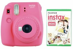 Fujifilm-instax-Mini-9-Instant-Camera-with-10-shots-Flamingo-Pink