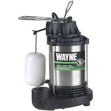 Wayne CDU980E - 3/4 HP Stainless Steel Cast Iron Submersible Sump Pump w/ Ver...