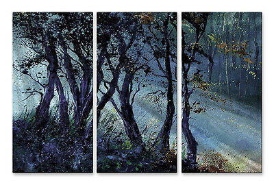 Abstract Landscape Tree Metal Wall Hanging Art Peaking Rays by Pol Ledent