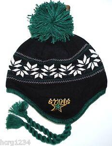 1c6ca8132 DALLAS STARS CCM VINTAGE NHL POM POM KNIT HAT/ BEANIE/TOQUE CHULLO ...
