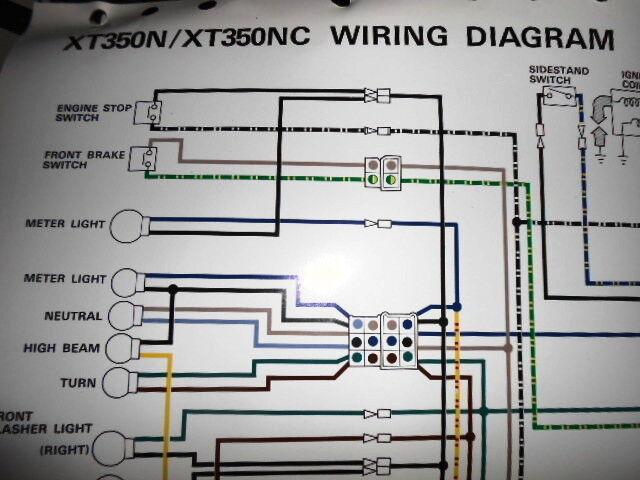 Yamaha Oem Factory Color Wiring Diagram Schematic 1985 Xt350n Xt350nc Ebay