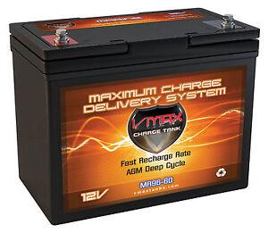 Vmax Mr96 12v Agm Deep Cycle Marine Battery For 40 50lb