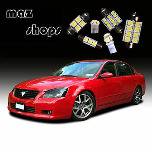 12pcs White Interior Led Light Bulbs Package Kit For Nissan Altima 2002 2006 707427224254 Ebay
