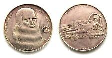Medaglia Leonardo Da Vinci 1452-1519 Maja Desnuda (LB) Argento 999 Diametro cm 3