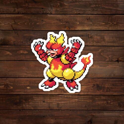 Decal//Sticker 8-Bit Magmar Pokemon
