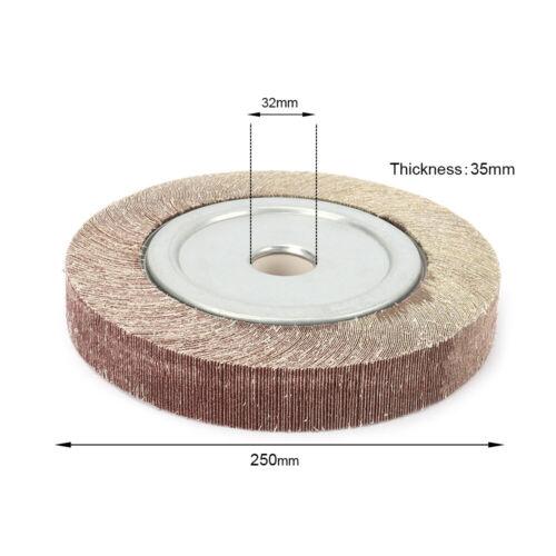 "5/""~12/"" Abrasive Flap Wheel Grinding Polishing Pad Sanding Disc for Steel 60~600#"