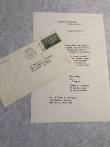 Eisenhower-Press-Sec-James-C-Hagerty-Letter-to-NYC-Mayor-Aide-William-Donoghue