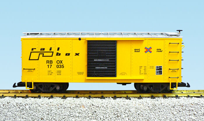 USA Trains G Scale R19098 RailBox Box Car CHOICE  's NEW RELEASE
