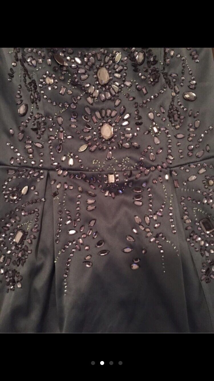 Express Embellished Strapless Dress un-used