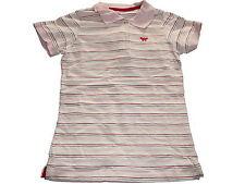 TCM tolles Poloshirt Gr. 146 / 152 rosa geringelt !!