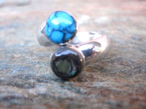 Stone Inlay Handmade Adjustable Wrap Ring by Artesanas Campesinas Fair Trade r07