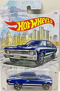 Hot Wheels Detroit Muscle /'68 Nova 2//6 ~WALMART EXCLUSIVE ~ Blue ~ NEW RELEASE