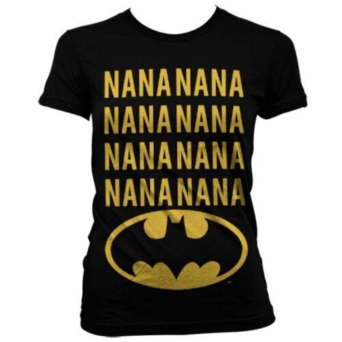 Offiziell Dc Comics Damen Nananana Batman T-Shirt Schwarz Womens Ausgestattet