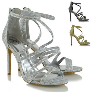 SZE 4 37 TOP QUALITY costosi New Look Nero Sandalo stiletto con cinturino alla caviglia