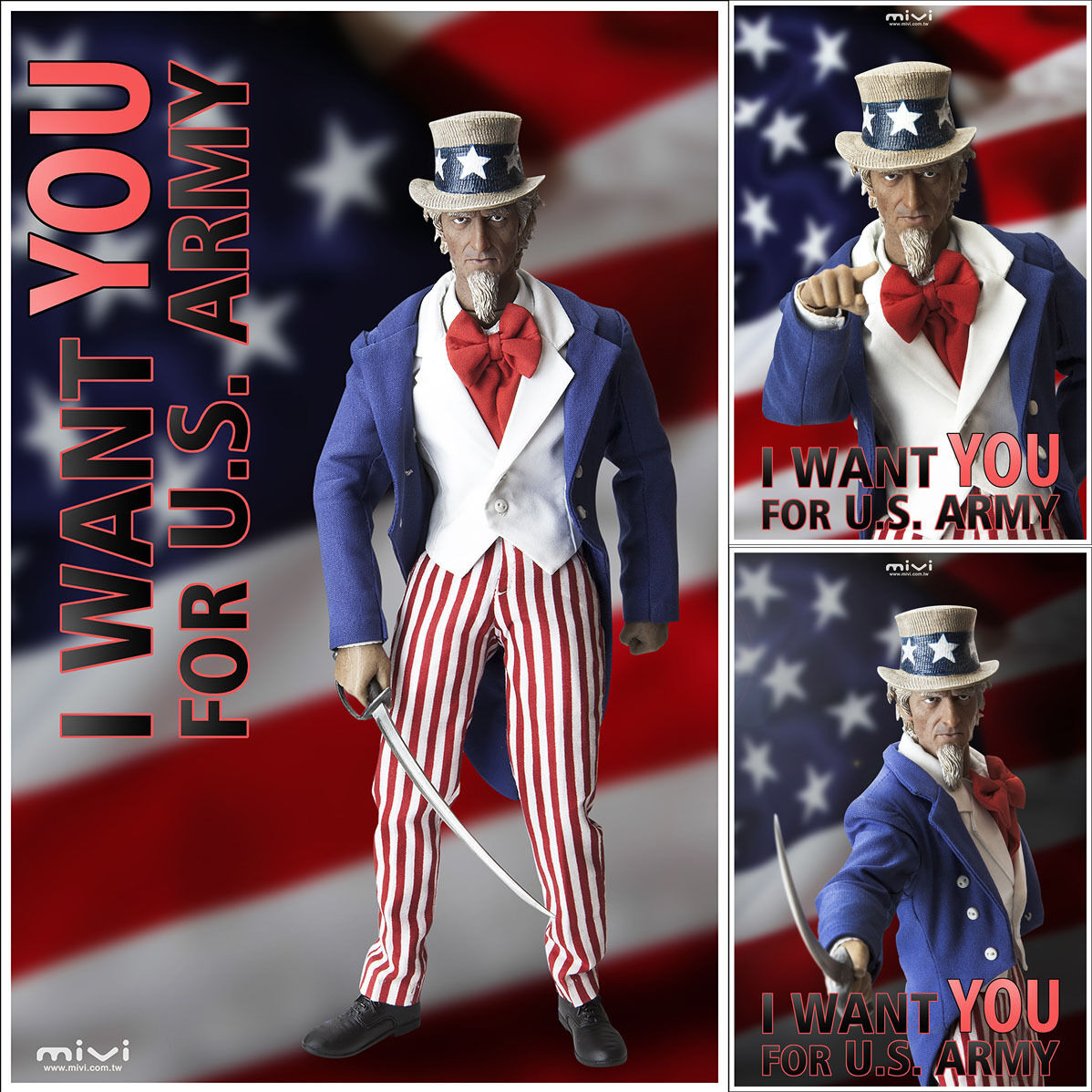 MiVi : I WANT YOU Uncle Sam USA Uncle Sam 1/6 Figure