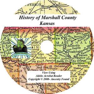 2-in-1-History-Genealogy-MARSHALL-County-Kansas-KS