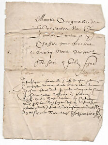 1629 very nice post medieval manuscript document AMAZING SIGNATURES gothic writi