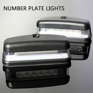 2PC-6-LED-12V-Feux-Arriere-Plaque-D-039-immatriculation-E11-Camion-Remorque-Caravane