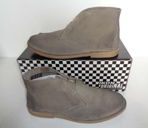 IKON Homme en Cuir et Daim Bottines Chaussures New formelle Casual Désert Tailles 6-12