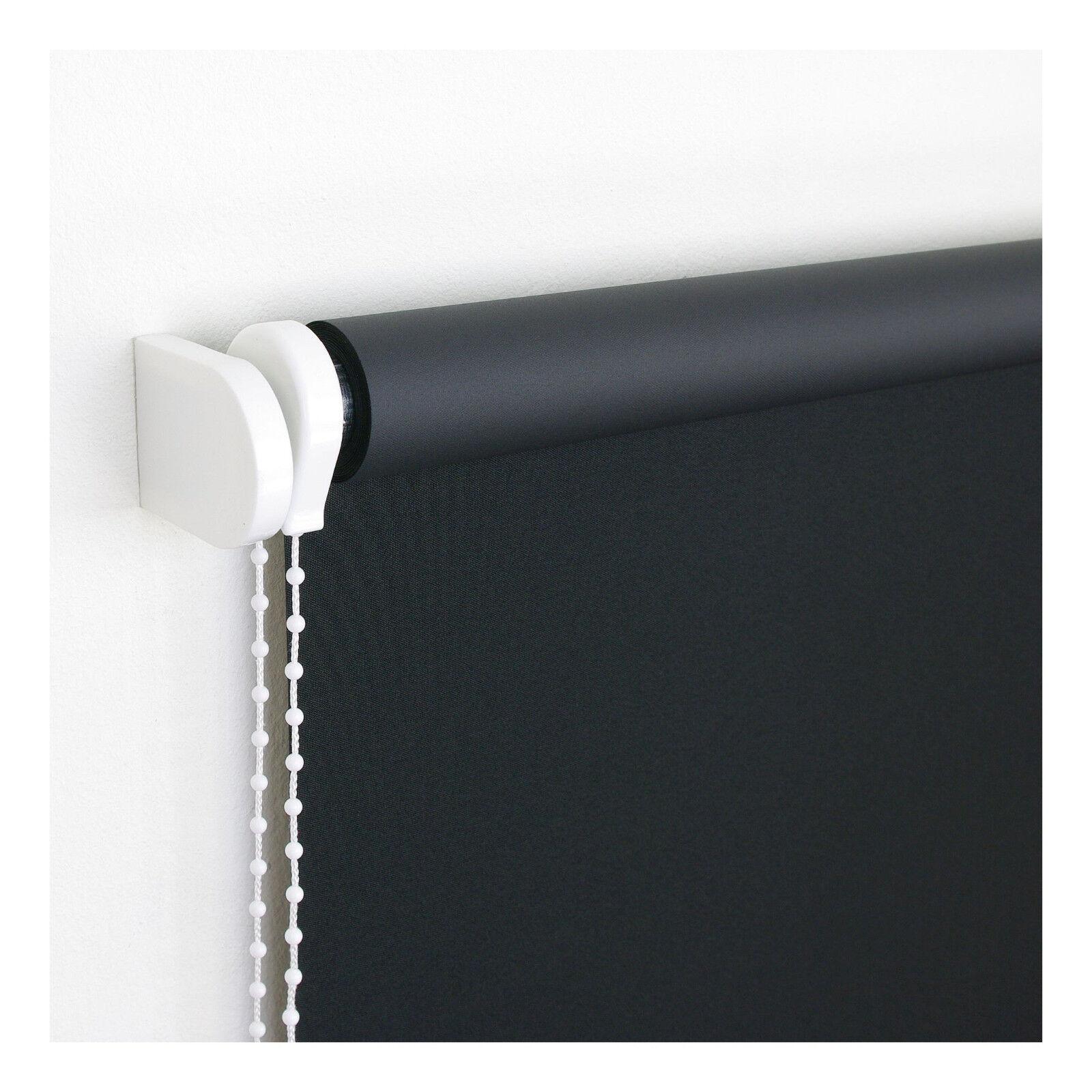 Verdunklungs-Kettenzugrollo Schwarz Seitenzugrollo Fensterrollo Sichtschutz