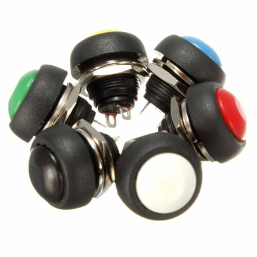Car Dashboard Boat SPST #M2R ON 5X 12V Momentary Push Button Horn Switch OFF