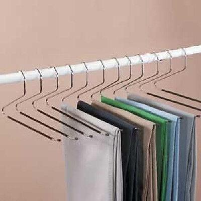 Slacks Hangers Open Ended Easy Slide Organizers 12 Piece Set NEW Pants