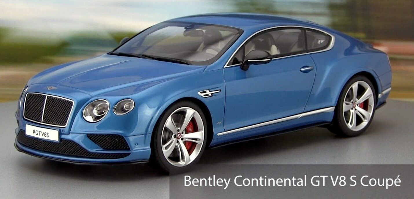1 18 GT Spirit BENTLEY CONTINENTAL GT V8 S 2015 (Met. blu) Limited to 504 pcs.
