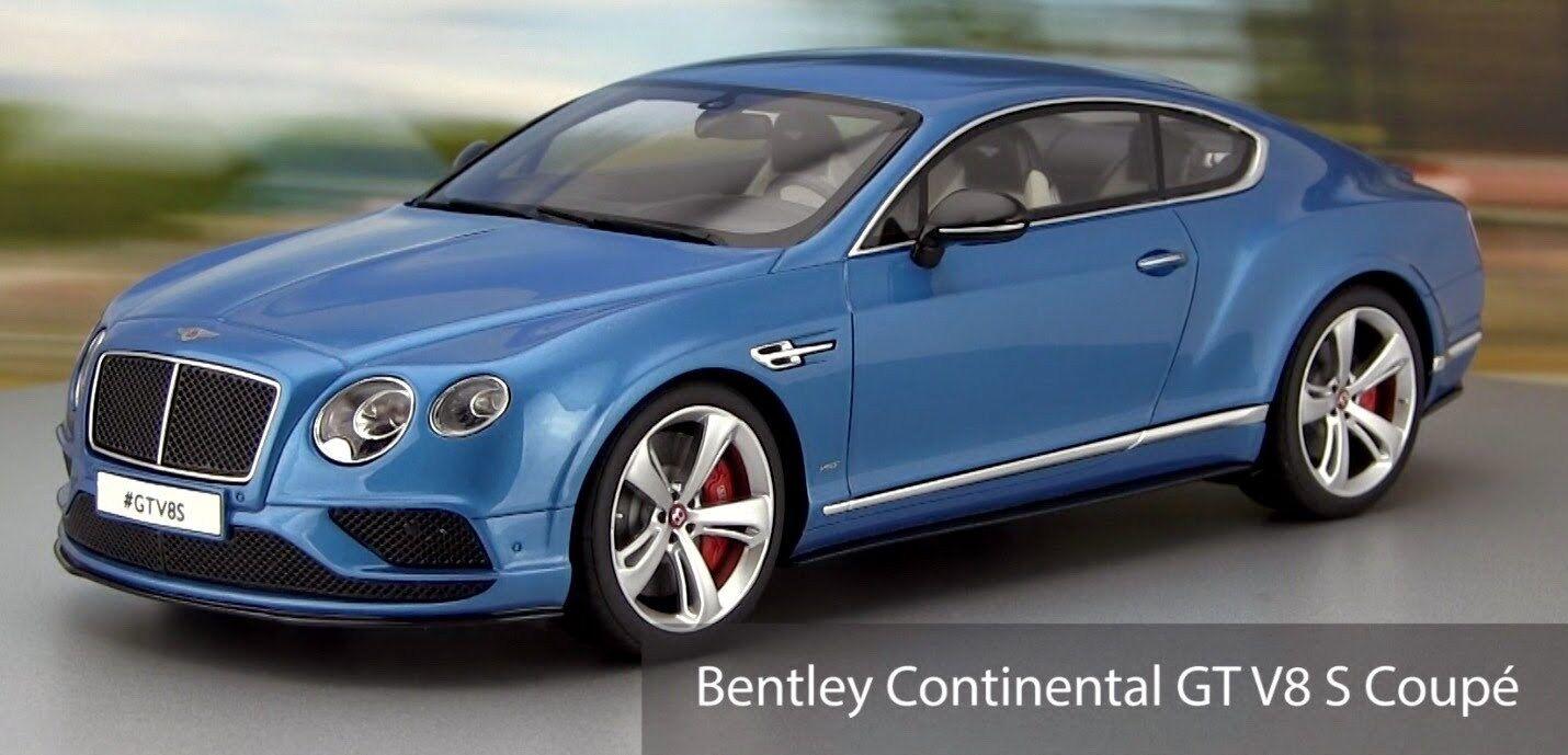 1 18 GT Spirit BENTLEY CONTINENTAL GT V8 S 2015 (Met. blu) Limited to 504 pcs.